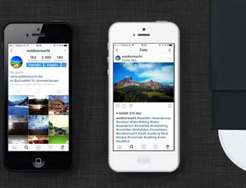 OutdoorSucht Tourismus Instagram Content Management