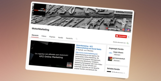 MotorMarketing Agency Video Marketing