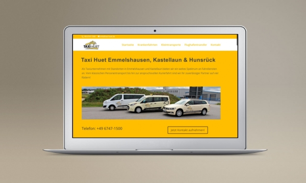 Taxi Homepage Landingpage