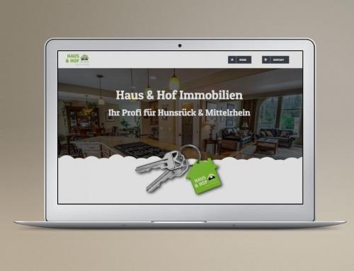 Immobilien Homepage – OnePage für Immobilienverwalter