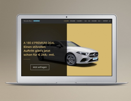 Mercedes-Benz Leadpage für Google Ads und Facebook Ads